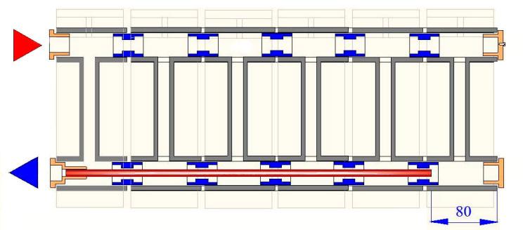 Удлинитель потока VT.503 схема установки