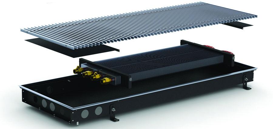 Внутрипольный конвектор Carrera M2 Inox/ Black 65 (естественная конвекция)