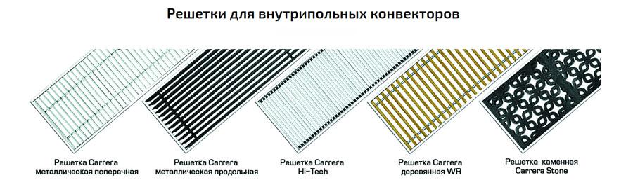 Решетка для внутрипольного конвектора Carrera SV2