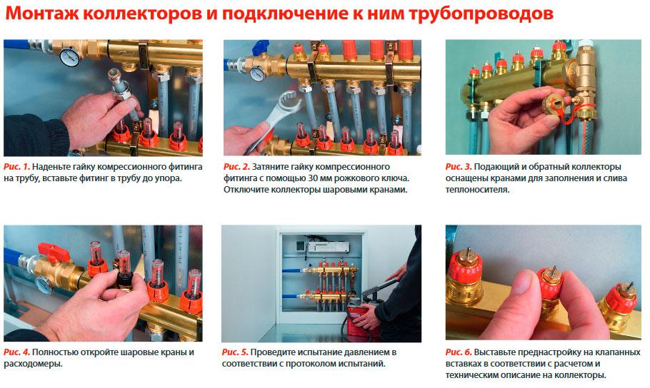 Подключение коллектора отопления