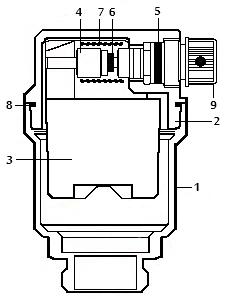 Конструкция воздухоотводчика VT.502