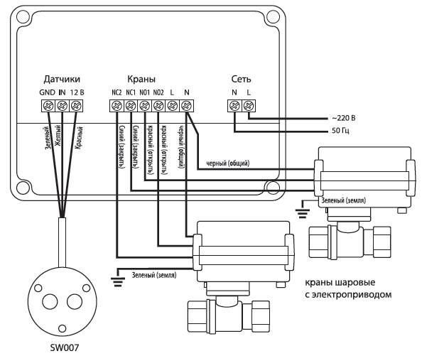 Схема подключения Neptun Aquacontrol