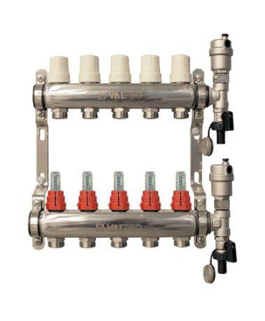 VTc.589. VALTEC Коллектор из нержавеющей стали с расходомерами