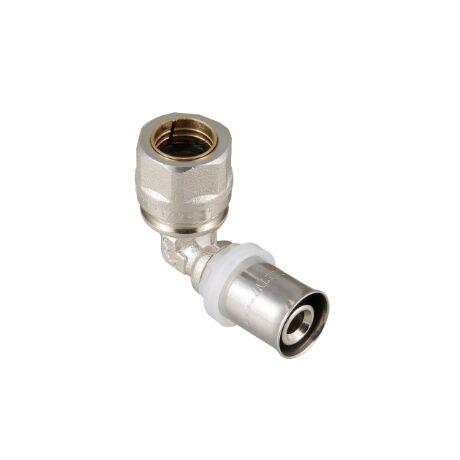 VTm.253.I. VALTEC Пресс-фитинг - угльник с переходом на обжимное соединение
