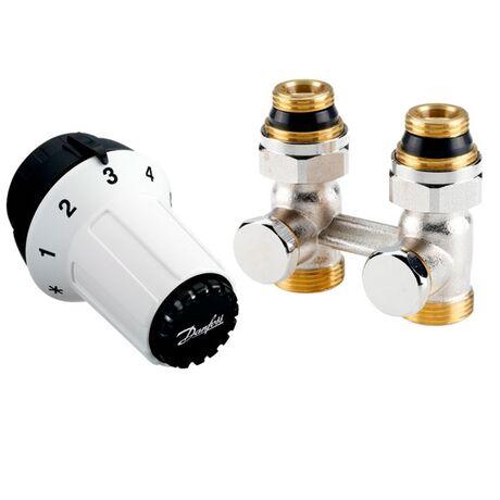 DANFOSS Комплект радиаторный прямой RLV-KS + RAS-CK