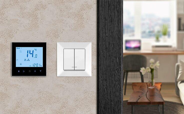 Mycond комнатный термостат TRF-B2F черный ФОТО 3