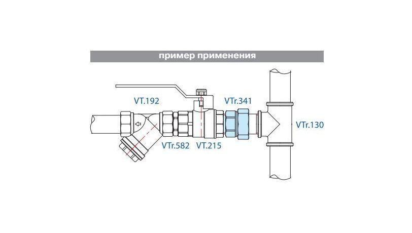 VTr.341. VALTEC сгон прямой американка разъемная - фото 2